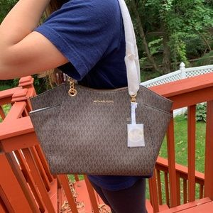 NWT MICHAEL KORS LG JET SET TRAVEL SHOULDER TOTE